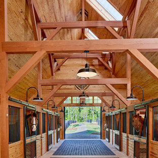Example of a huge country detached barn design in Atlanta