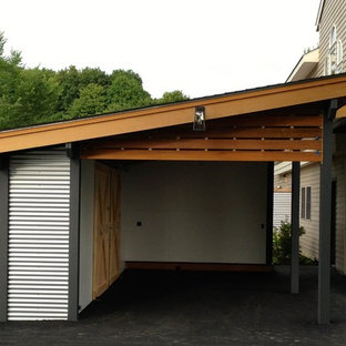 Example of a minimalist shed design in Boston