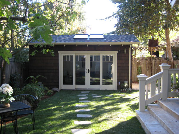 Traditional Garage And Shed by Young and Borlik Architects, inc.