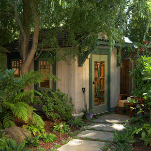 Garden shed - mid-sized traditional detached garden shed idea in San Francisco