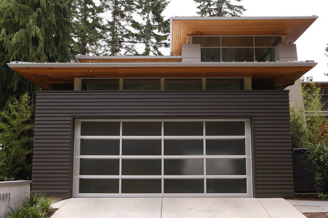 Contemporary Garage And Shed by BC&J Architecture