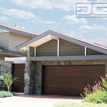 Orange County Modern Style Garage Door & Pivot Courtyard Gate