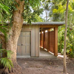 Abri de jardin exotique avec un abri de jardin : Photos et idées ...