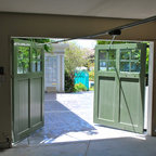 Exterior Bypassing Sliding Doors Opens Up Utility Space