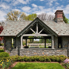 Traditional Garage And Shed by E. B. Mahoney Builders, Inc.
