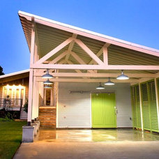 Modern Garage And Shed by Brandon Construction Co. Inc.