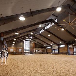 This is an example of an expansive contemporary detached barn in Denver.