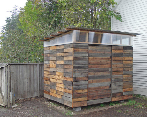 pallet shed. modern shed idea in los angeles pallet