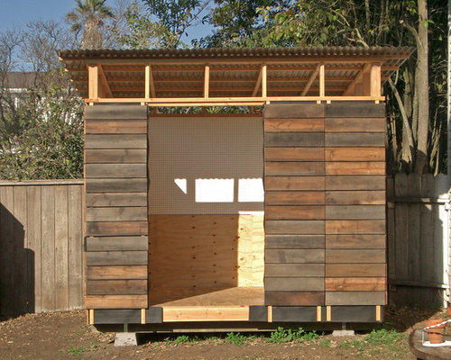 Reclaimed Redwood Siding Garage and Shed Design Ideas, Pictures, Remodel & Decor