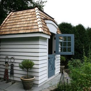 Idéer för små vintage fristående trädgårdsskjul