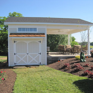 Inspiration for a beach style shed and granny flat in DC Metro.