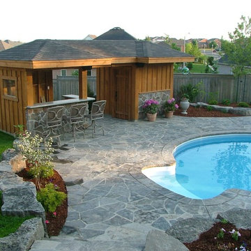 Pool Shed with Bar Area