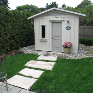 Small transitional detached garden shed photo in Toronto