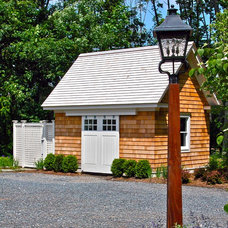 Traditional Garage And Shed by Liquidscapes