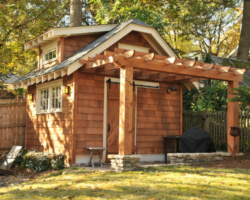 Pergola Off Shed Home Design Ideas, Pictures, Remodel and ...