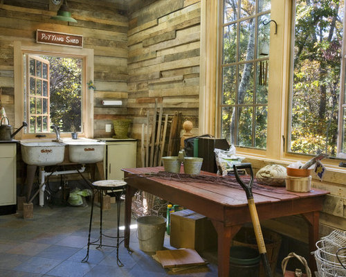 Example Of A Mid Sized Mountain Style Detached Garden Shed Design In  Nashville