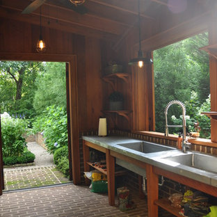 Design ideas for a small traditional attached garden shed in Atlanta.