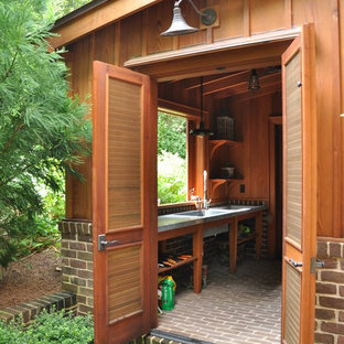 Photo of a small traditional attached garden shed in Atlanta.
