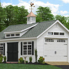 Traditional Garage And Shed by Sheds Unlimited INC