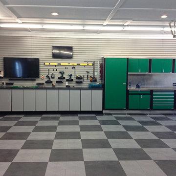 RaceDeck Garage Flooring TIles in Home Garage Shop