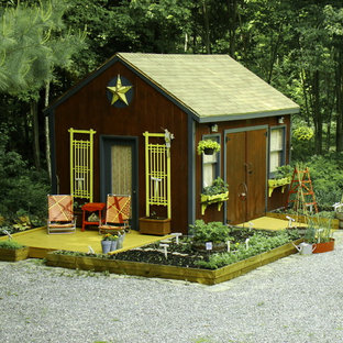 Inspiration For A Rustic Detached Garden Shed Remodel In Portland Maine