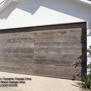 Reclaimed Wood Contemporary Garage Door Design