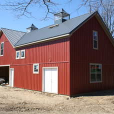 Farmhouse Garage And Shed by Ekocite Architecture