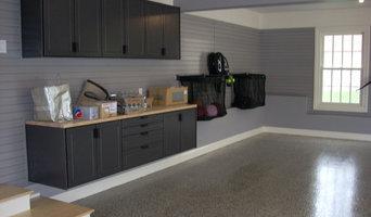 Redline Garage Cabinets, Slat Wall, LCG Custom Floor