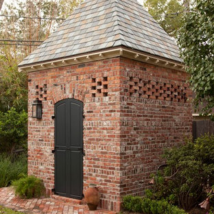 Traditional detached garden shed in Houston.