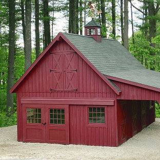 This is an example of a traditional shed and granny flat in Boston.