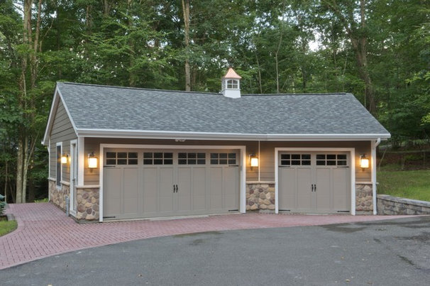 Rustic Garage And Shed by Clemleddy Construction