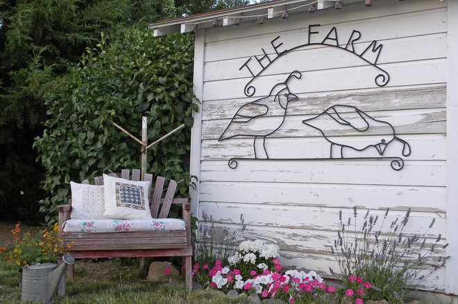 Farmhouse Garage And Shed by Sarah Greenman