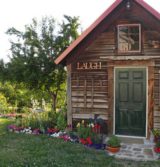 traditional garage and shed by Sarah Greenman
