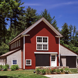 Inspiration for a timeless barn remodel in Boston