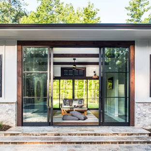Inspiration for a beach style detached guesthouse remodel in Atlanta