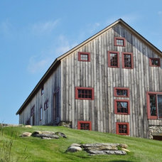 Traditional Garage And Shed by Green Mountain Timber Frames