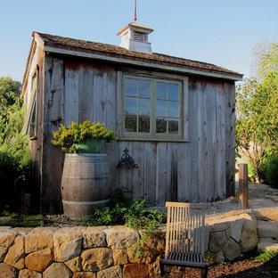 Small farmhouse detached garden shed in Santa Barbara.