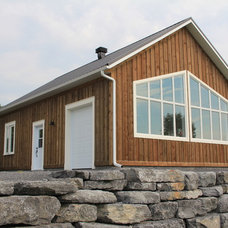 Transitional Garage And Shed by White Pine Lumber