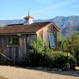 This is an example of a small country detached garden shed in Santa Barbara.