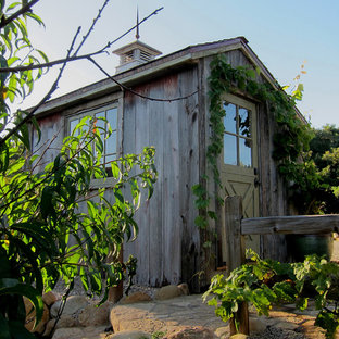 Inspiration for a small country detached garden shed in Santa Barbara.