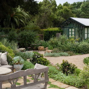 Inspiration for a mid-sized mediterranean detached shed and granny flat in Santa Barbara.