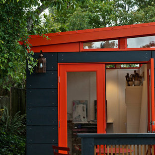 Small trendy detached studio / workshop shed photo in Seattle