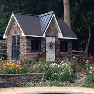 Design ideas for a mid-sized victorian detached garden shed in DC Metro.