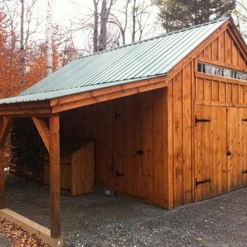Shed, Garden & Farm Kits - 14' x 20' One Bay Garage