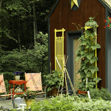 Rustic Garage And Shed by Robin Amorello, CKD CAPS - Atmoscaper Design