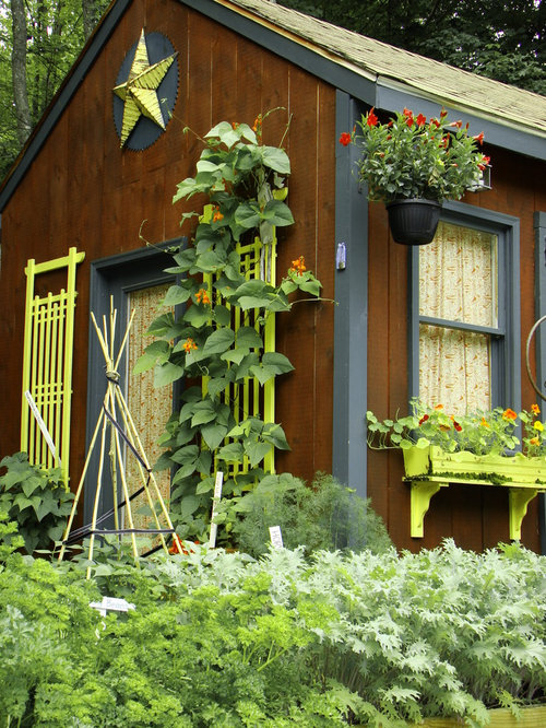Inspiration For A Rustic Garden Shed Remodel In Portland Maine