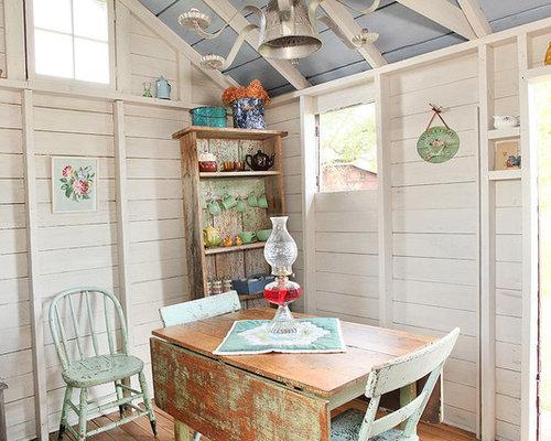 Shabby chic style gartenhaus design ideen bilder houzz - Gartenhaus shabby chic ...