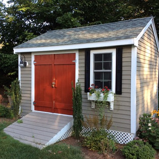 Inspiration for a mid-sized traditional detached garden shed in Boston.