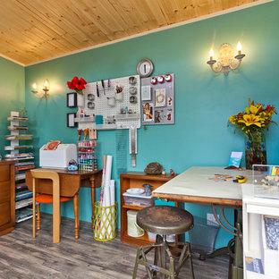 Inspiration för små moderna fristående kontor, studior eller verkstäder