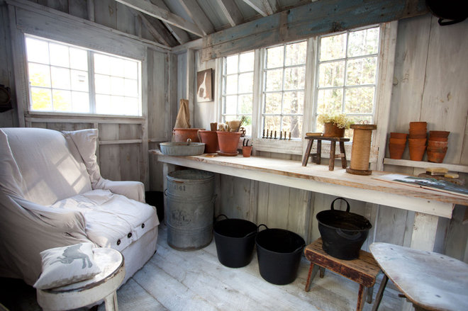 Farmhouse Garage And Shed by Tess Fine